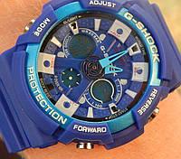 Кварцевые спортивные часы (blue) - гарантия 6 месяцев