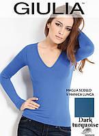 Бесшовная футболка женская (Dark turquoise (Синий))