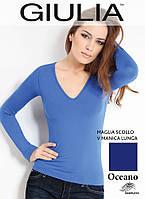 Бесшовная футболка женская (Oceano (Синий))