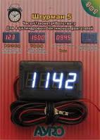 Тахометр-вольтметр цифровой 4-х разрядный АУRО на карбюратор и инжектор
