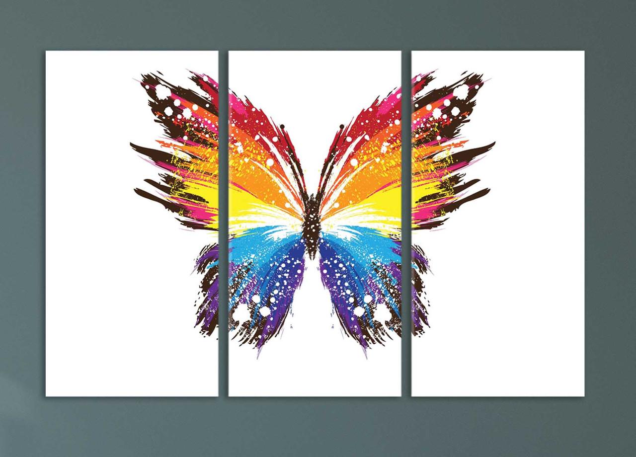 """Модульная картина """"Яркая абстрактная бабочка"""""""
