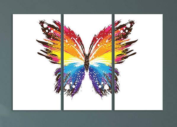 """Модульная картина """"Яркая абстрактная бабочка"""", фото 2"""