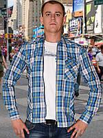 Мужская рубашка (Синий)