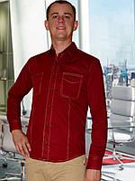 Мужская рубашка (Бордовый)