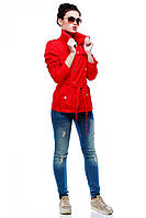 Молодежный плащик красного цвета, фото 1