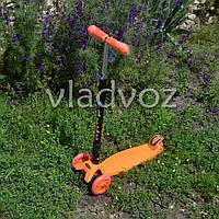 Самокат складной Itrike Scooter Maxy колёса светятся ручка регулируется оранжевый