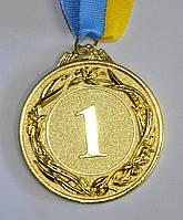 Медаль спортивна з стрічкою GLORY d-6,5 см C-4327-1 місце 1-золото (метал, d-6,5 см, 40g)