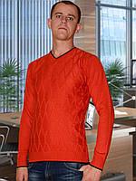 Мужской свитер (пуловер)     (Красный)