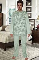 Тёплая пижама  (Зелёный, треугольники)