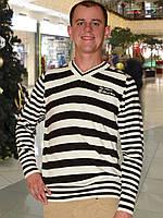 Мужской свитер (пуловер)      (Бежевый)
