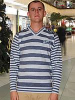 Мужской свитер (пуловер)    (Голубой)