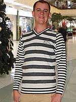 Мужской свитер (пуловер)     (Светло серый)