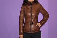 Стильная кожаная женская куртка