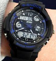 Кварцевые спортивные часы Skmei (black-blue)
