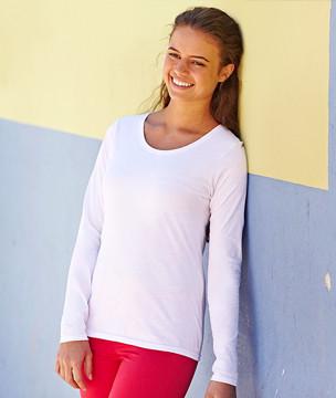 Футболка женская Long Sleeve Valueweight T, M (44-46), Белый