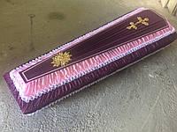 Гроб - драпировка шёлк (бордо) сайт:  Orfey1.com