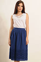 Летняя юбка солнце клеш из прошвы с объемной вышивкой 42-52 размеры
