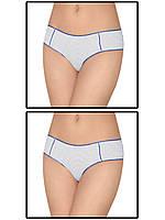 Набор женских трусов мини шорт - 2 шт. (Белый с фиолетовым)
