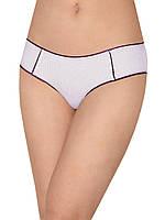 Женские трусы мини шорты (Белый с фиолетовым)