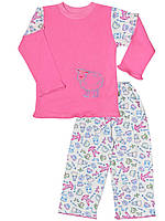 Детская пижама (кофта и брюки)     (Розовый, овечка)