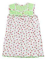 Детская ночная сорочка  (Белый с зеленым)