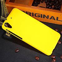 Пластиковый чехол для HTC Desire 626G dual sim жёлтый