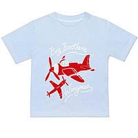 Детская футболка  (Голубой, самолет)