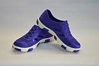 кроссовки подростковые пенка оптом (синие с белым), фото 1