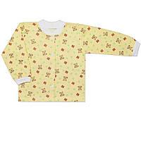 Детская кофта  (Желтый, лисички)