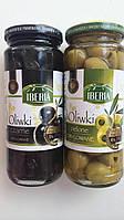 Маслины (Оливки) IBERIA зеленые и черные без косточки Польша 340г