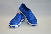 кроссовки подростковые пенка оптом (голубые с белым), фото 1