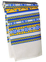 Кухонное вафельное полотенце (Белый с синим, желтым)