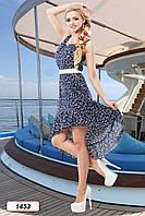 Платье 12-1453 - т.синий/белый: S M L XL