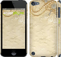 Чехол на iPod Touch 5 Коричневый, Кружевной орнамент