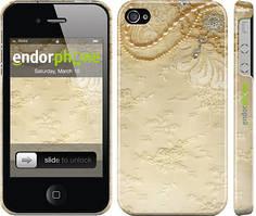 """Чехол на iPhone 4 Кружевной орнамент """"2160c-15"""""""