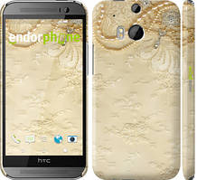 "Чехол на HTC One M8 Кружевной орнамент ""2160c-30"""