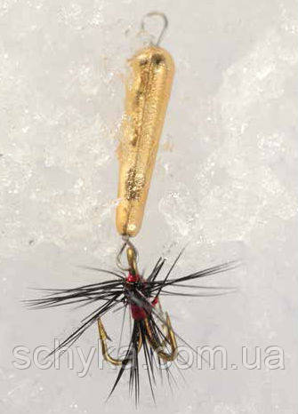 Мормышка вольфрамовая Lucky John «ДЬЯВОЛ » с петелькой, подвесным тройником и мушкой-5430Т