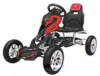 Детский веломобиль GM 504+ ЕВА колеса(задний привод)красный