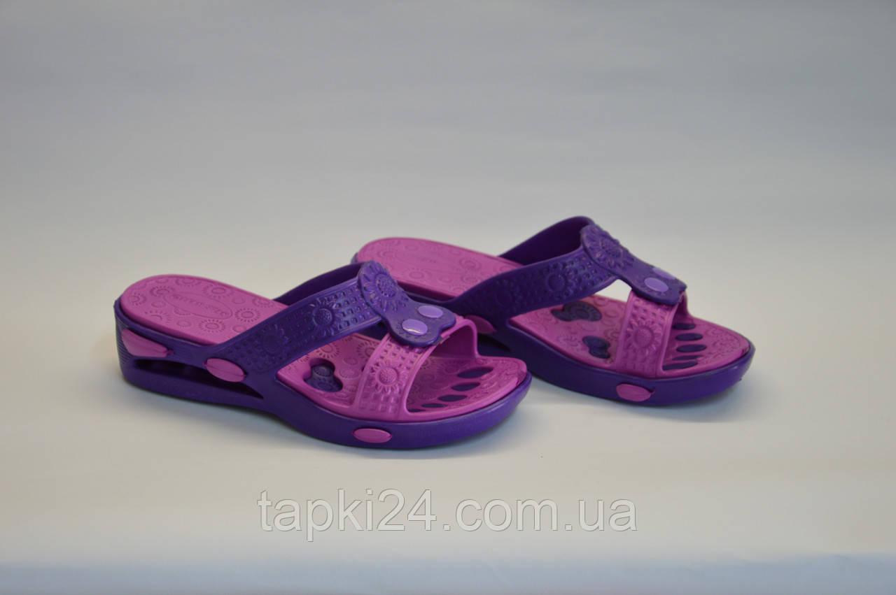 Шлепанцы женские Украина оптом фиолетовые ПЖ - 26, фото 1