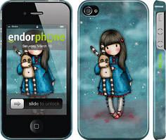 """Чехол на iPhone 4 Девочка с зайчиком """"915c-15"""""""