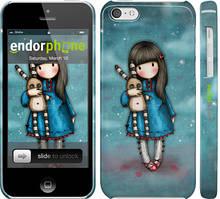 """Чехол на iPhone 5c Девочка с зайчиком """"915c-23"""""""