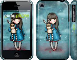 """Чехол на iPhone 3Gs Девочка с зайчиком """"915c-34"""""""