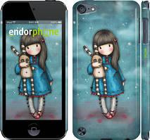 Чехол на iPod Touch 5 Синий, Девочка с зайчиком