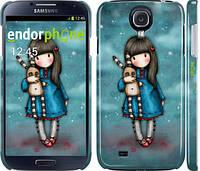 "Чехол на Samsung Galaxy S4 i9500 Девочка с зайчиком ""915c-13"""