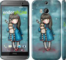 """Чехол на HTC One M8 Девочка с зайчиком """"915c-30"""""""