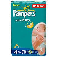 Подгузники Pampers Active Baby-Dry Maxi 7-14 кг, Джамбо 70 шт (4015400244769)
