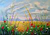 «Полевые цветы на рассвете» картина маслом