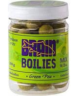 Бойлы Brain Green Pea (Горох) Soluble 200 gr, mix 16-20 mm