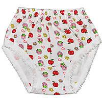 Детские трусы слипы (Белый, яблоки)