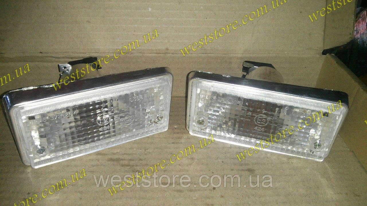 Подфарники ваз 2101 белые корпус хром 2101-3712010